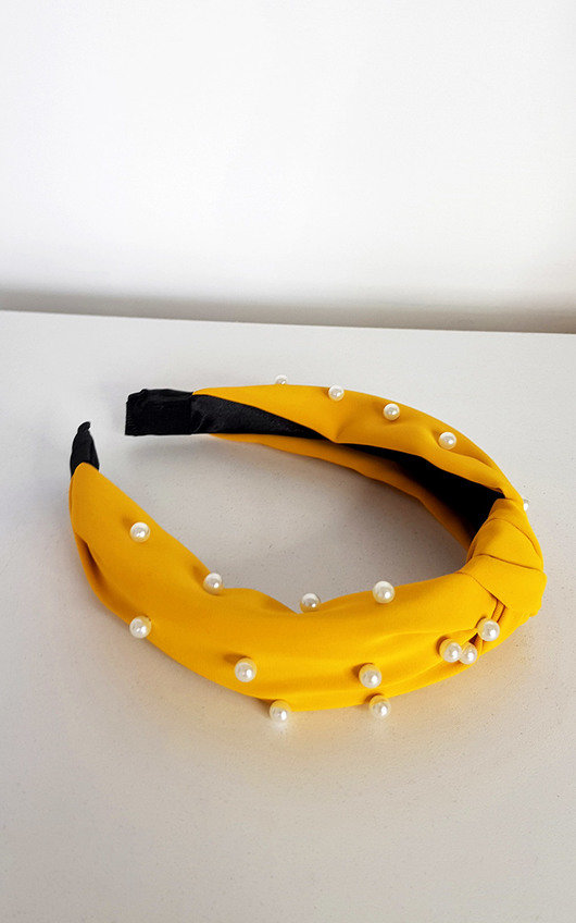 Ava Faux Pearl Tie Knot Hairband
