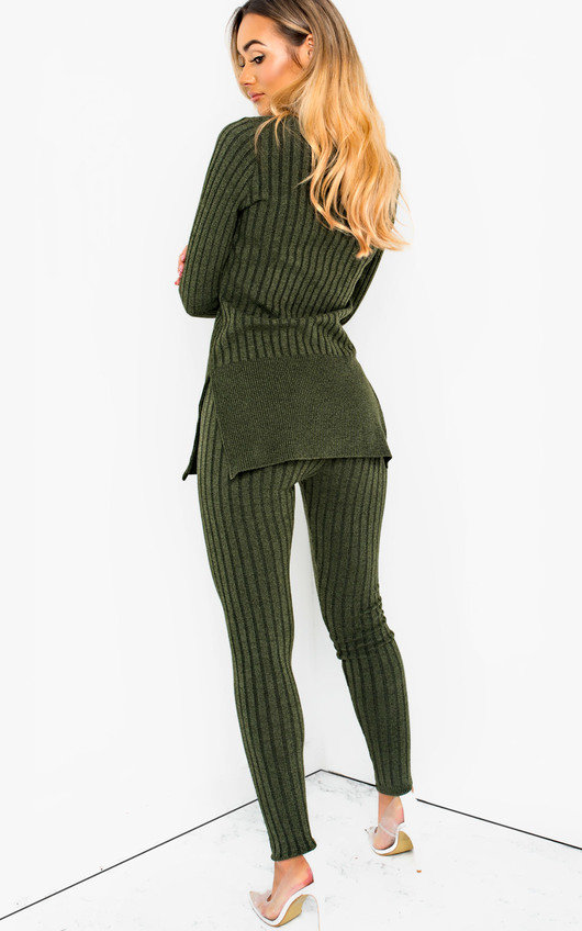 7fe9b16c1d Ava Knitted Lounge Co-ord in Khaki