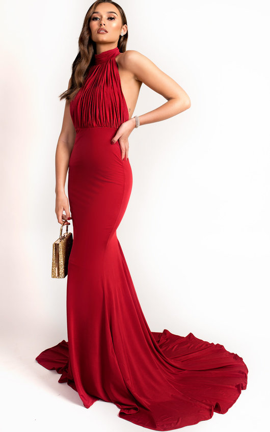 Avery Halterneck Backless Maxi Dress