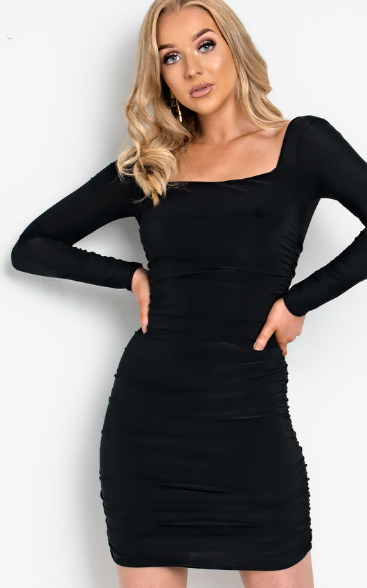 Avril Ruched Bodycon Dress