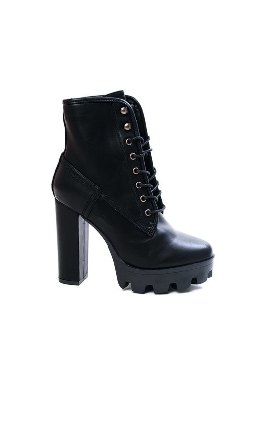 746718683ca053 Ayda Faux Leather Lace Up Heeled Boots in Black p | ikrush