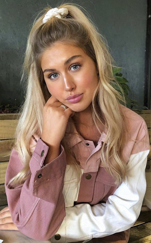 Ayla Colour Block Denim Jacket
