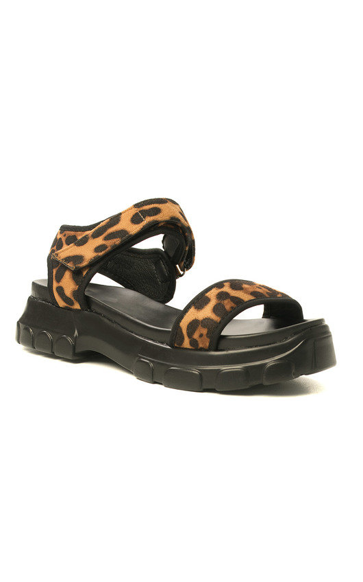 b06cfd299 Ayla Strap Chunky Sandals in Leopard