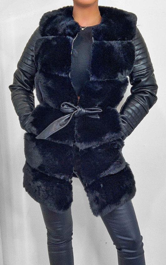 Bailey Faux Leather & Faux Fur Jacket