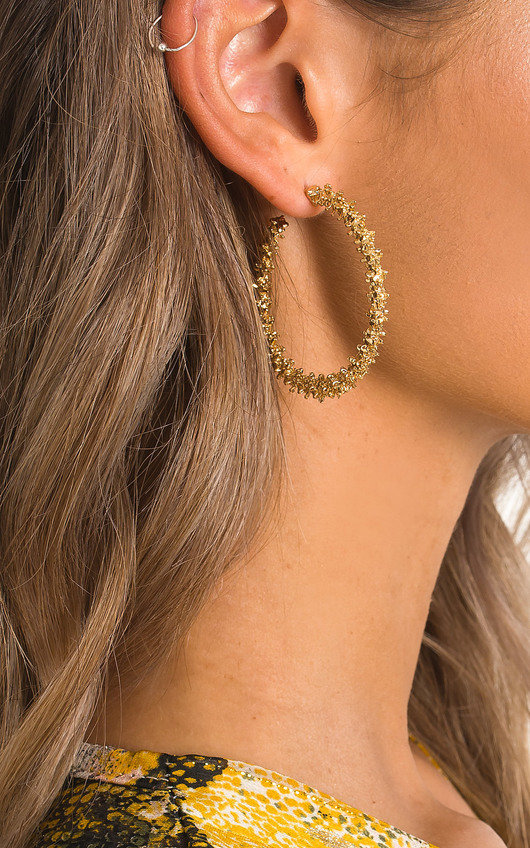 Bali Spiked Hoop Earrings