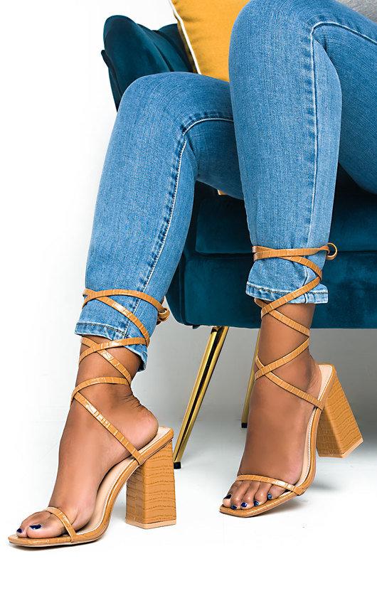 Ballie Tie Up High Heels