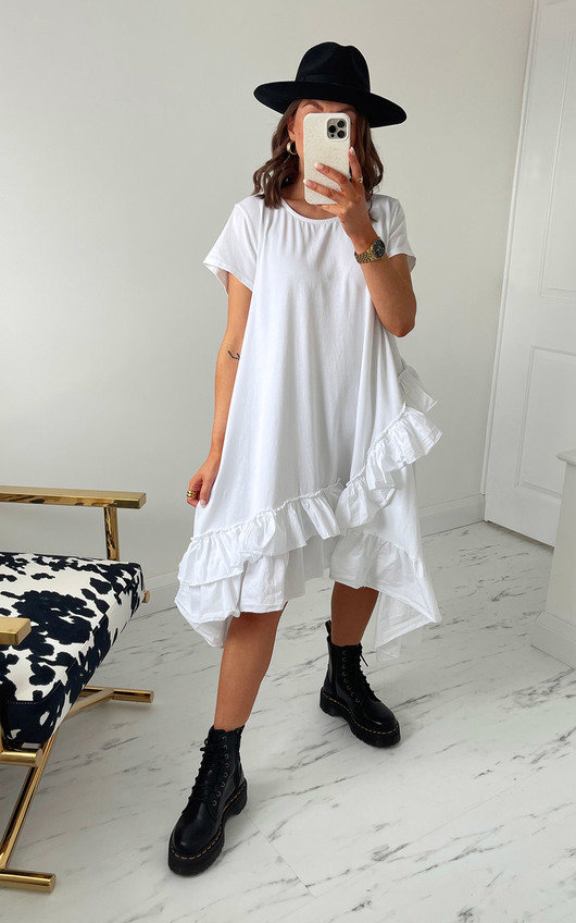 Bambi Ruffle T-Shirt Dress
