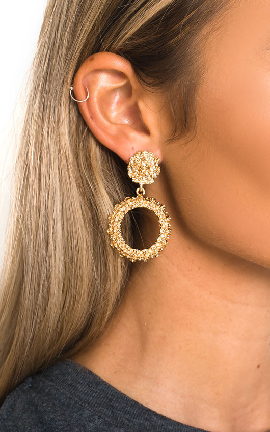 Barbra Statement Vintage Earrings