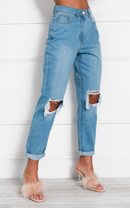 Beau Distressed Straight Leg Jeans
