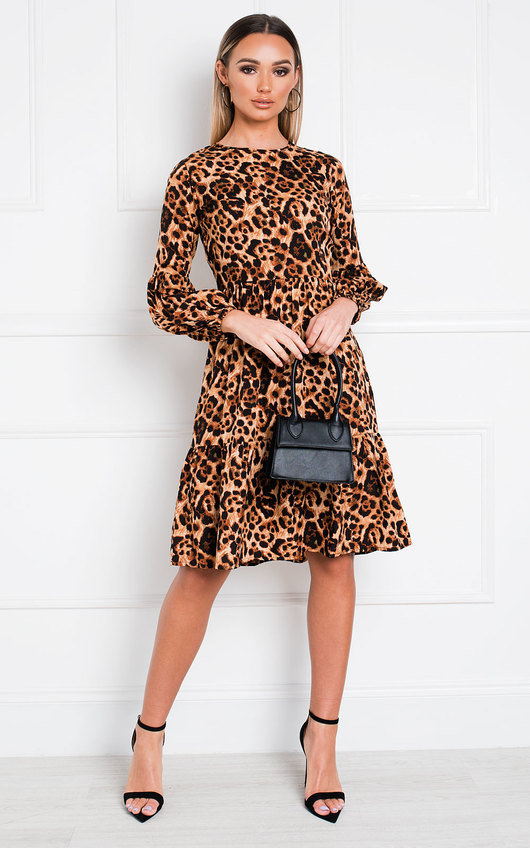 Bec Leopard Print Shift Dress