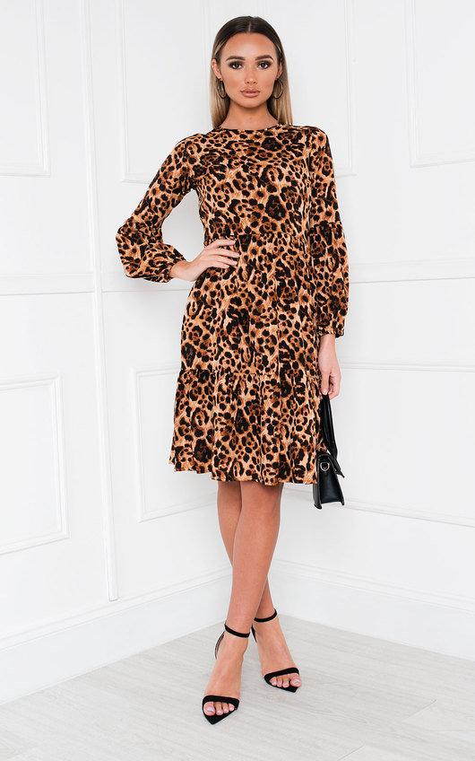 Bec Leopard Print Shift Dress