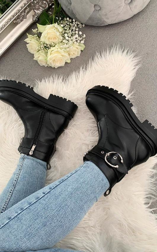 Becca Buckle Zip Up Ankle Boots