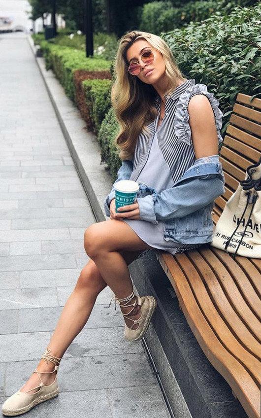 Becki Espadrille Flatform Sandal in Cream