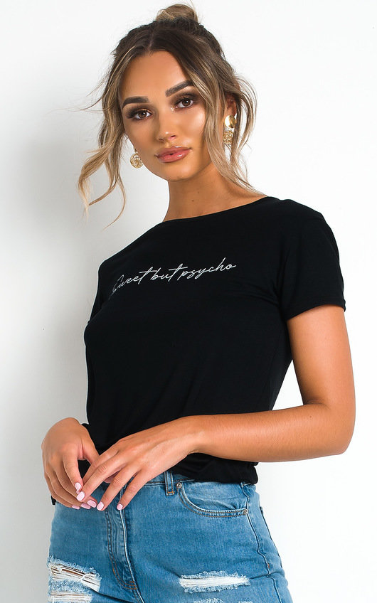 Bekah Slogan Stretch T-shirt