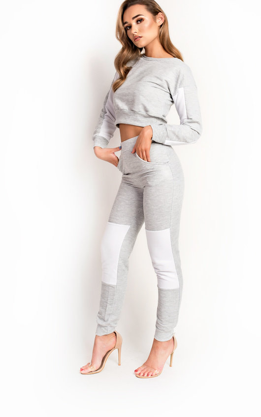 Beki Slim Fit Stripe Panel Tracksuit