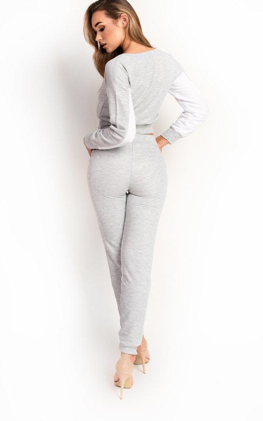 Beki Slim Fit Stripe Panel Tracksuit