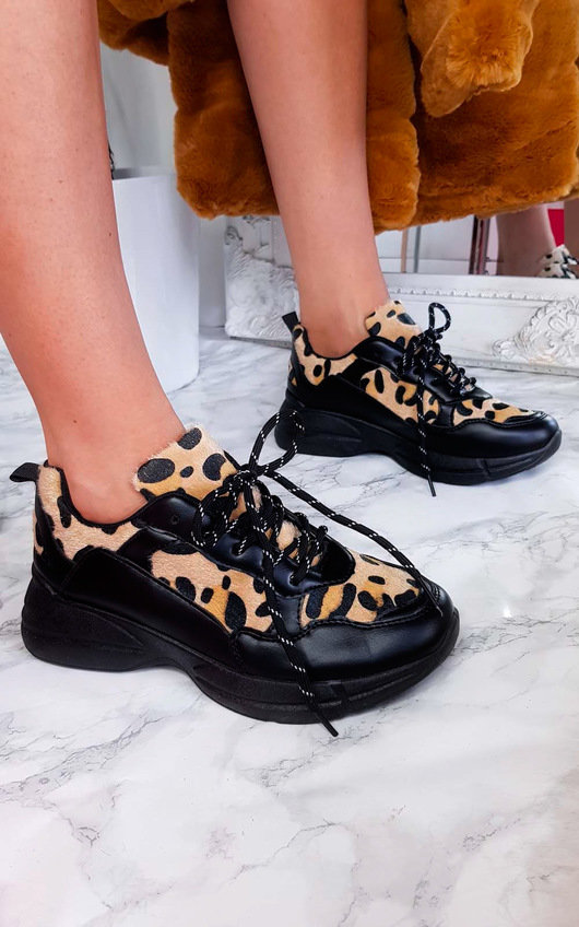 Bella Chunky Arched Leopard Trainer