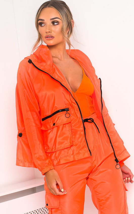 Bella Neon Sports Bomber Jacket