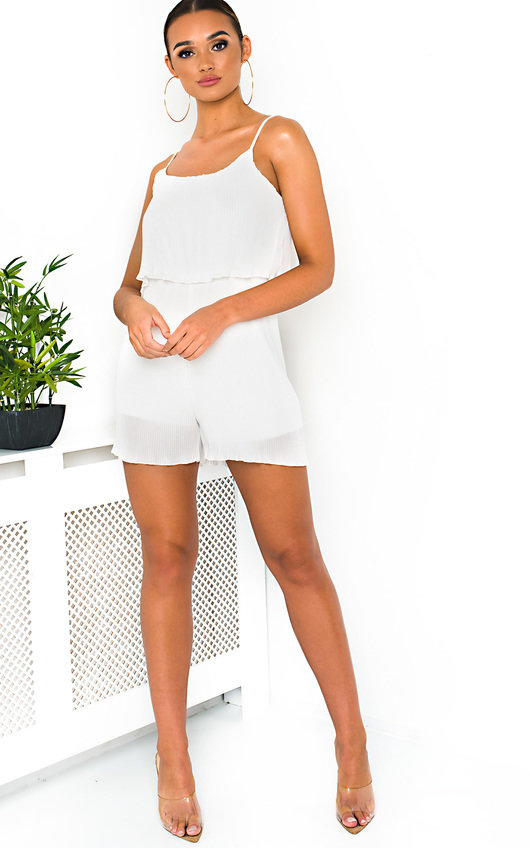 Bella Pleated Overlay Playsuit