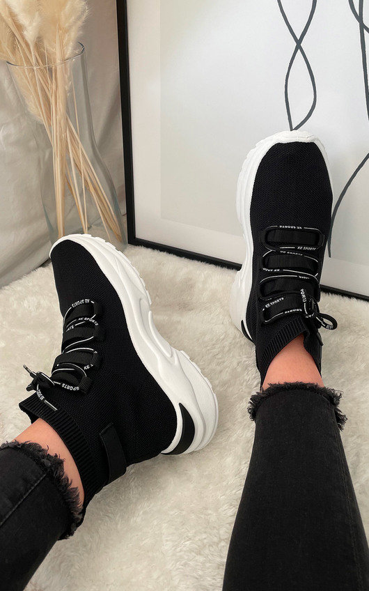 Belle Lace Up Sock Trainer