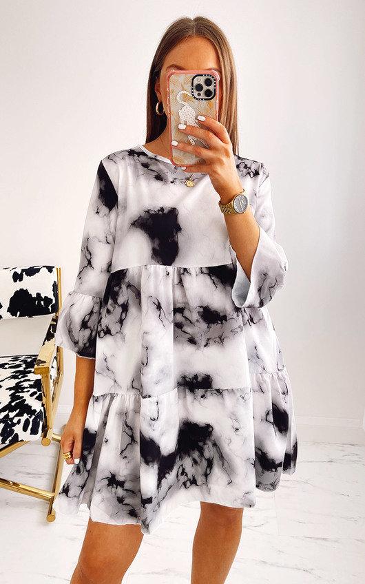Belle Tie Dye Tiered Dress