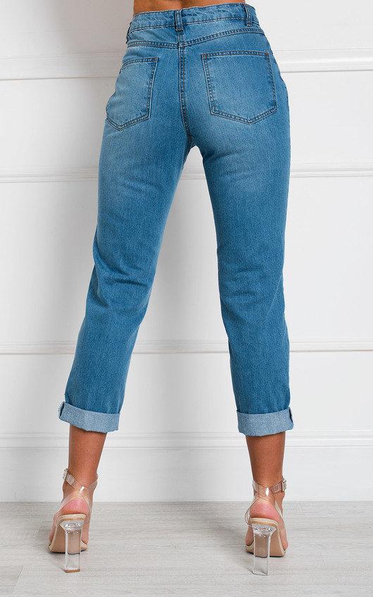 Benji Distressed Straight Leg Jeans