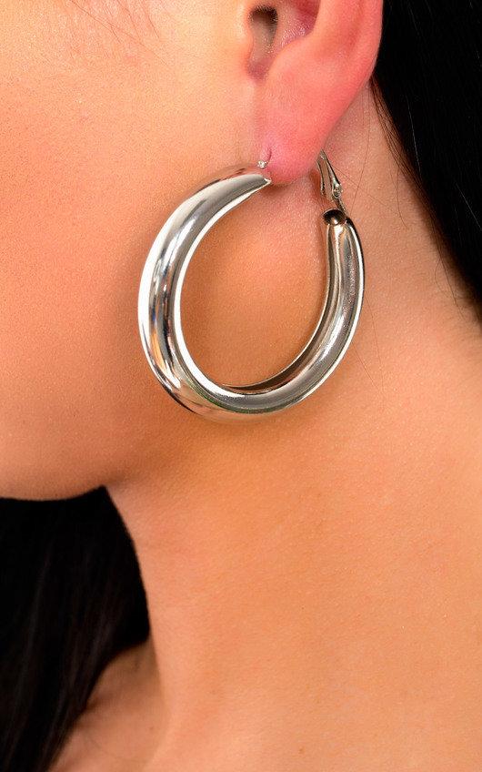 Beth Chunky Hoop Earrings