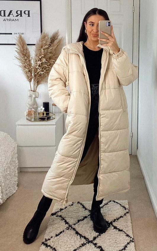 Beth Longline Puffer Hooded Jacket