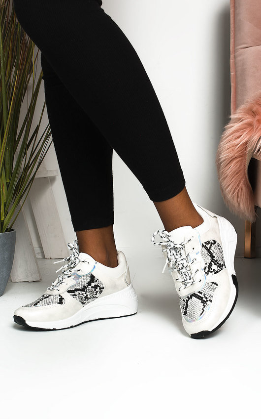 Bethan Chunky Printed Trainers