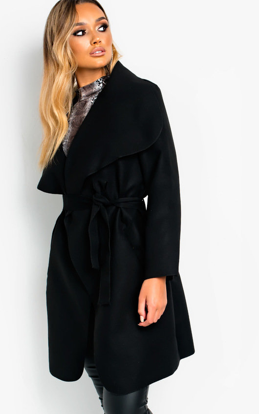 Bethan Long-Sleeved Waterfall Coat