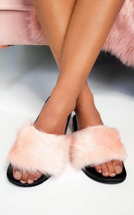 Bethany Faux Fur Sliders