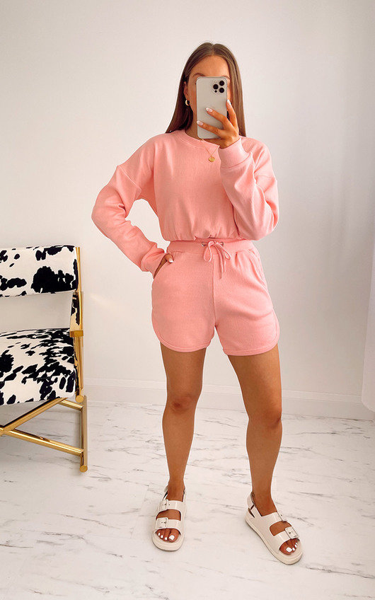 Beverley Cropped Jumper and Shorts Co Ord