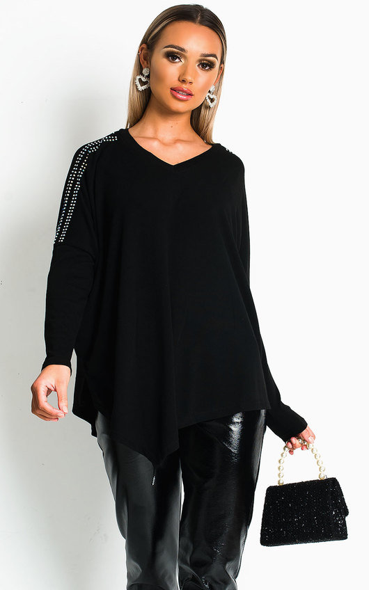 Bevvy Knitted Oversized Top