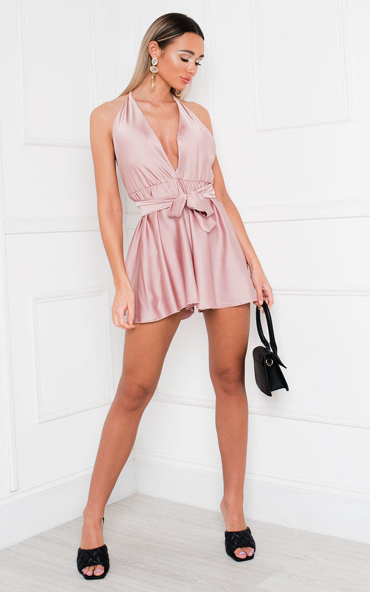 Bevvy Satin Playsuit