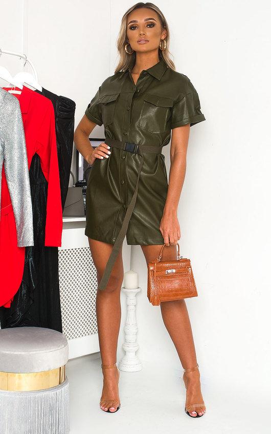 Bex Faux Leather Mini Dress