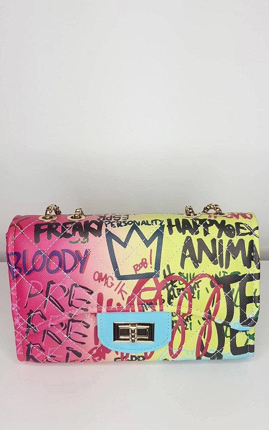 Bexley Graffiti Print Handbag