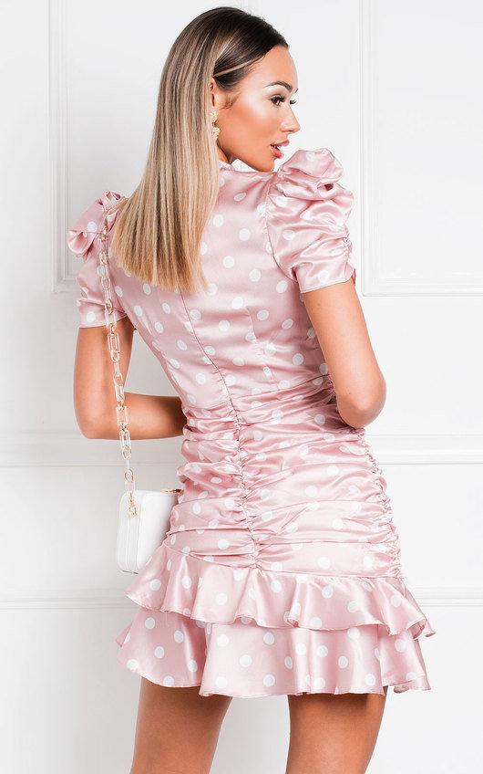 Billie Polka Dot Frill Mini Dress