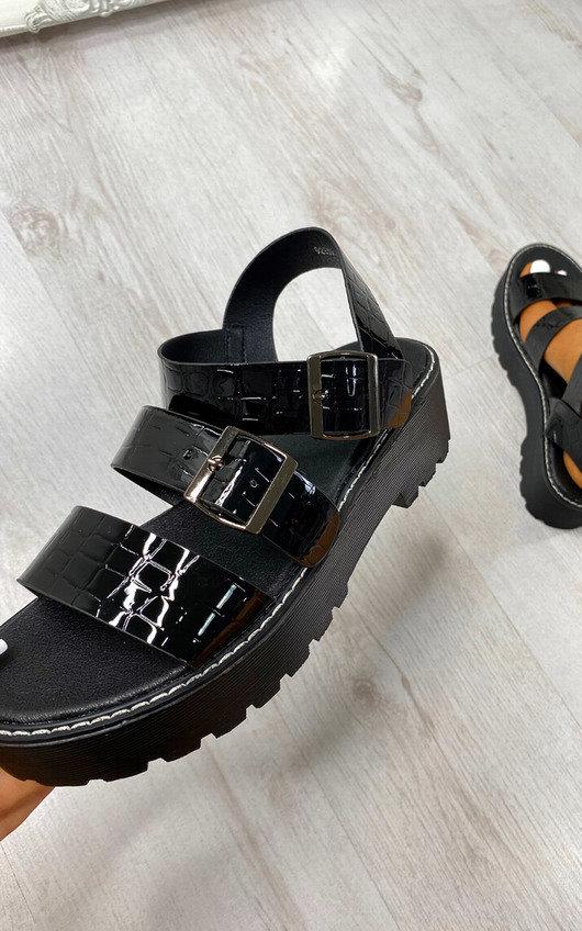 Binky Buckle Chunky Sandals