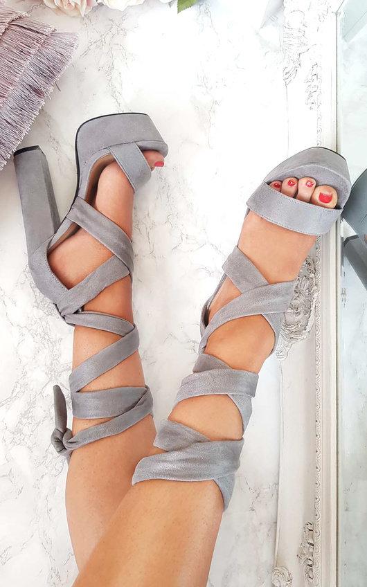 Binx High Platform Lace Up Heels