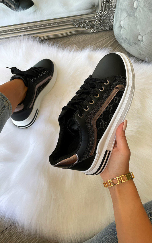 Blair Printed Lace Up Trainers