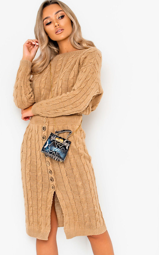 Blake Cable Knit Button Up Co-ord
