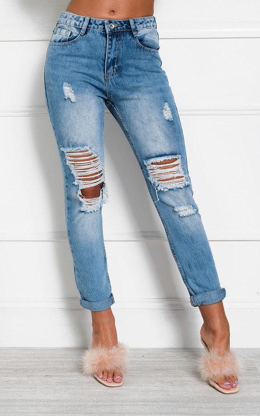 Bonnie Distressed Straight Leg Jeans