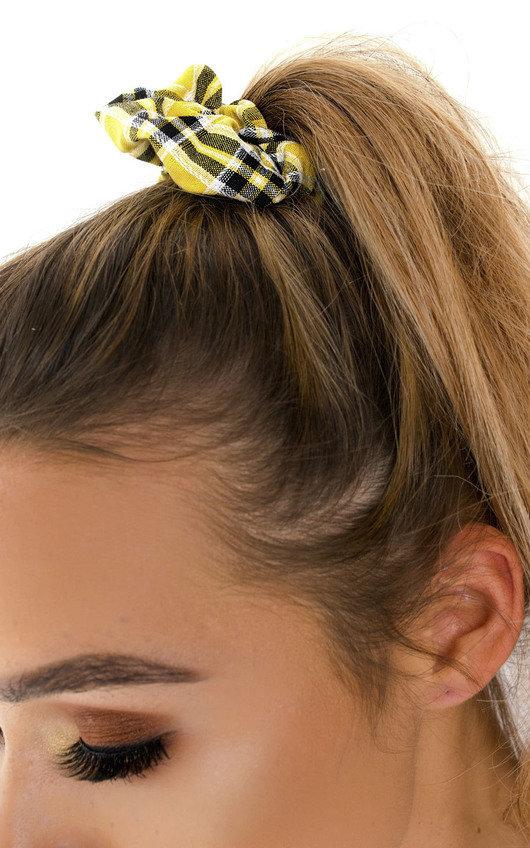 Bonnie Tartan Fabric Hair Scrunchie