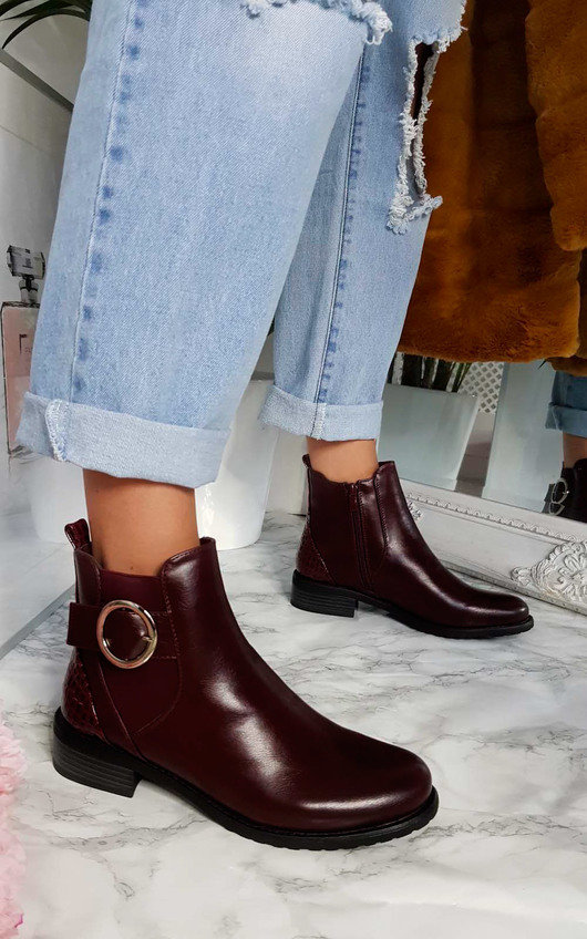 Bree Buckle Ankle Boots