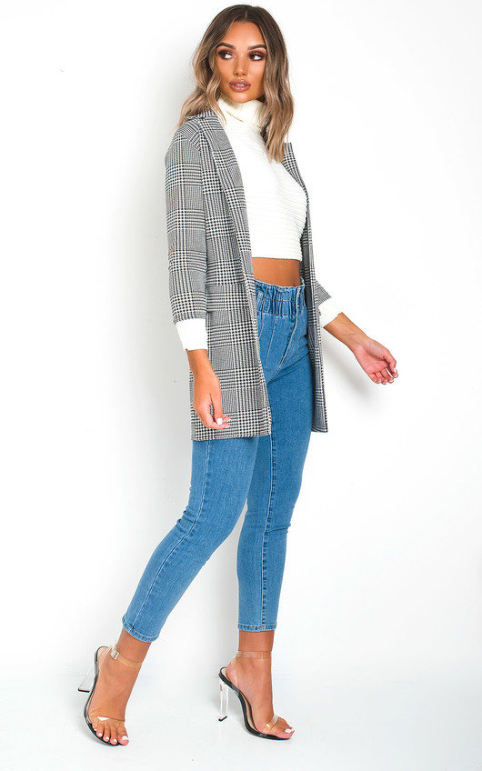 Brendi Checked Blazer Jacket