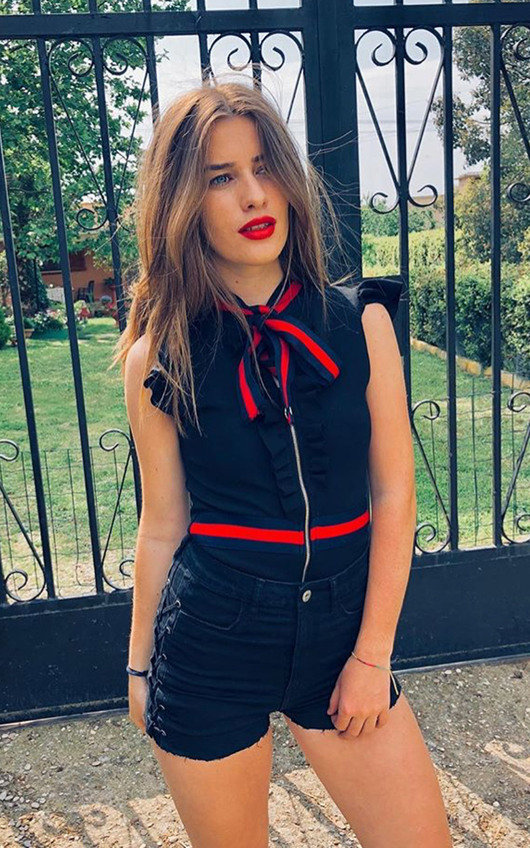 Bridgette Stripe Zip Front Bodysuit