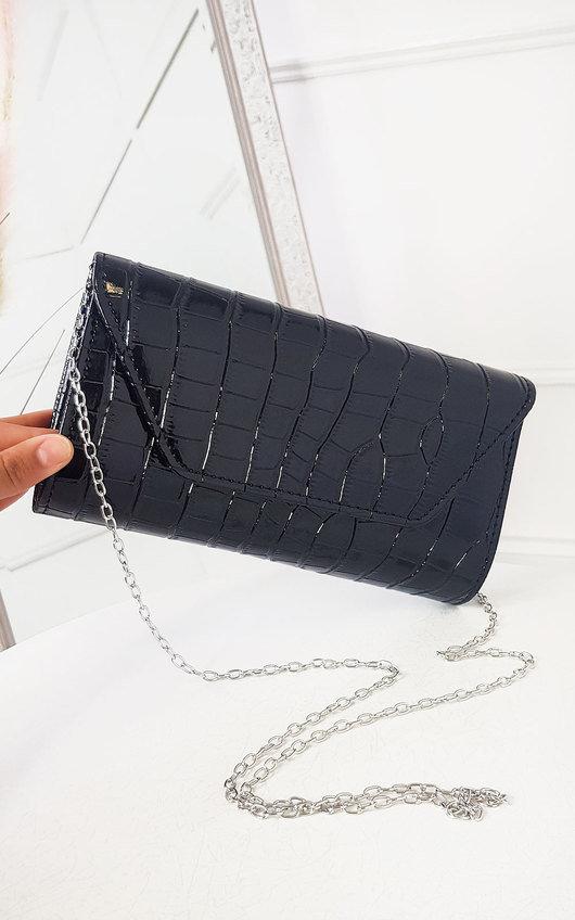 Bridgit Patent Envelope Clutch Bag