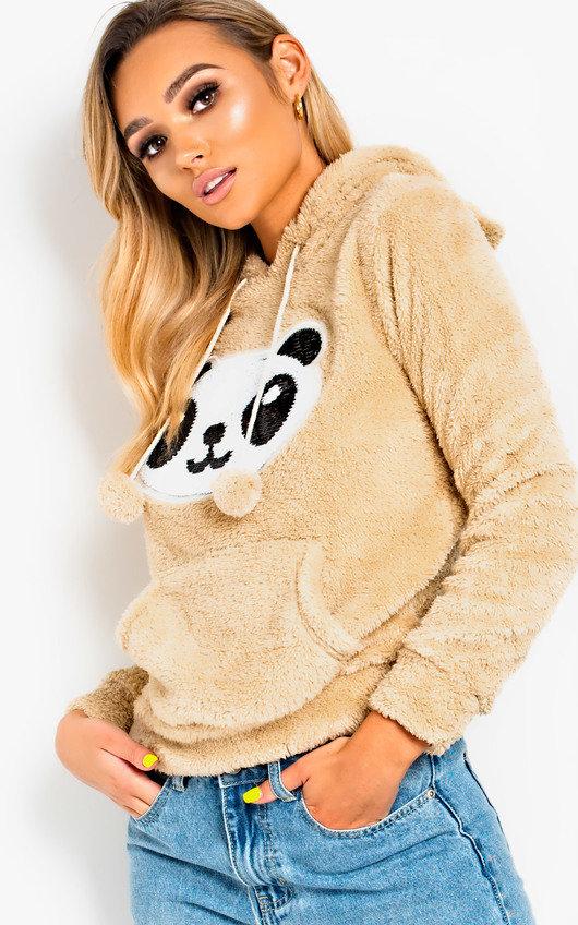 Brielle Faux Fur Panda Ear Jumper