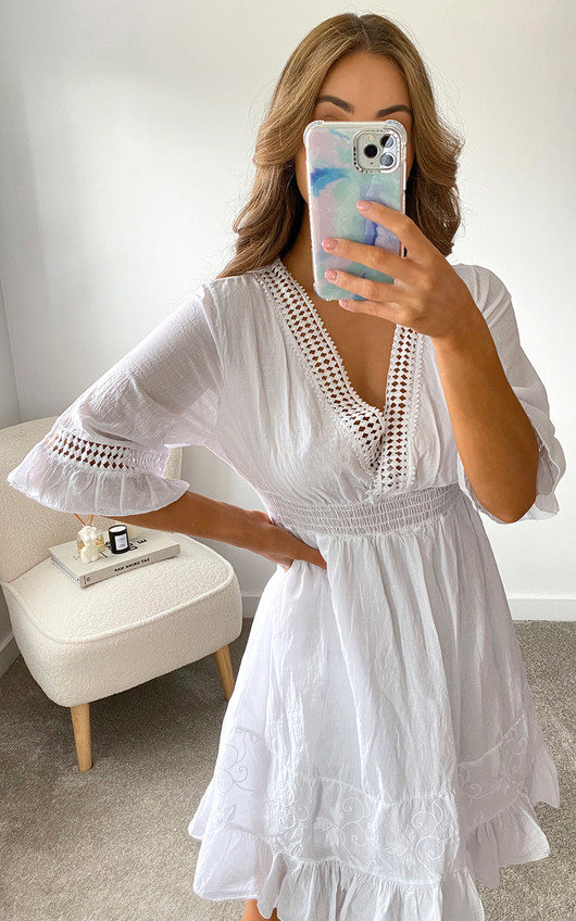 Britt Ruffle Hem Dress