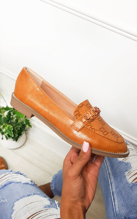 Brogan Faux Leather Flat Loafer